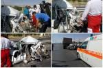 تصادف در آزاد راه قزوین به کرج ۵ مصدوم برجای گذاشت
