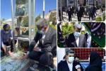 تجدید عهد مدیرعامل بانک صادرات ایران با سردار دلها در گلزار شهدای کرمان