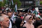 تظاهرات گسترده مردم یونان در حمایت از فلسطینیها