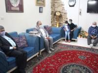 دیدار فرماندار اسلامشهر با خانواده شهید زمانی در چهاردانگه