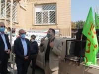 مسئولین ناحیه مقاومت بسیج سپاه شهرستان ملارد از پرسنل بهداشت و درمان این شهرستان با اهدای گل تقدیر کردند