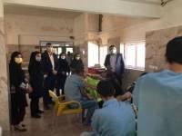 واکسیناسیون مرکز نگهداری از معتادین متجاهر اخوان در شهرستان ملارد