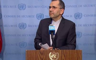 Iran envoy denounces use of force as violation of right to live